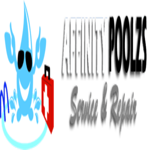 Affinity Pools White and Black Service And Repairs Logo