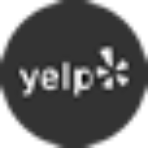 black and white yelp icon