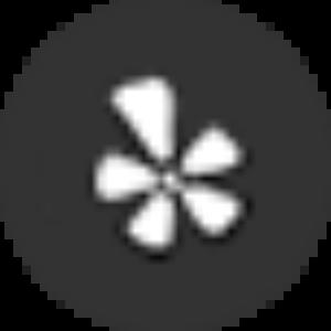 black yelp icon